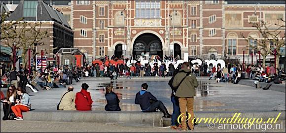 Rijksmuseum en toeristen