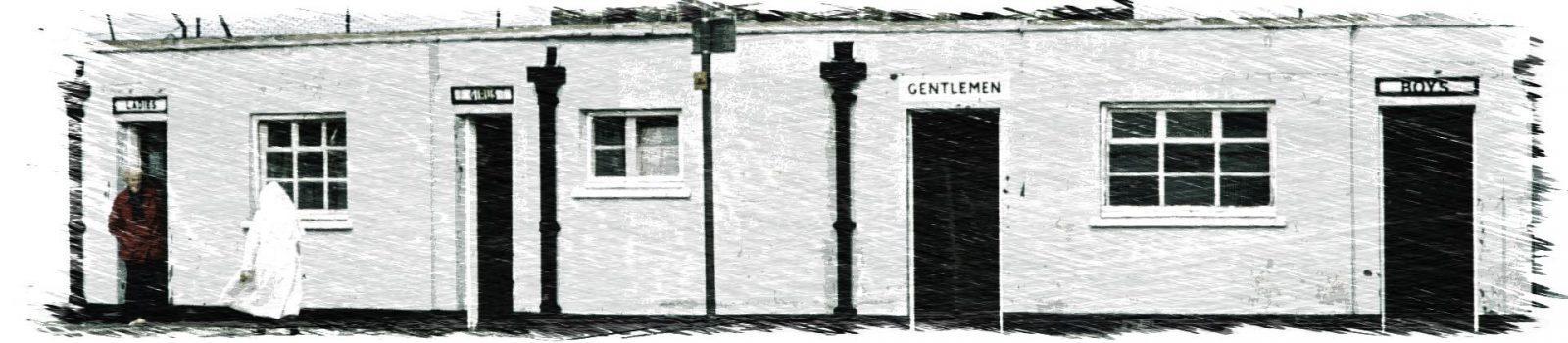 Openbaar toilet in Engeland 1979