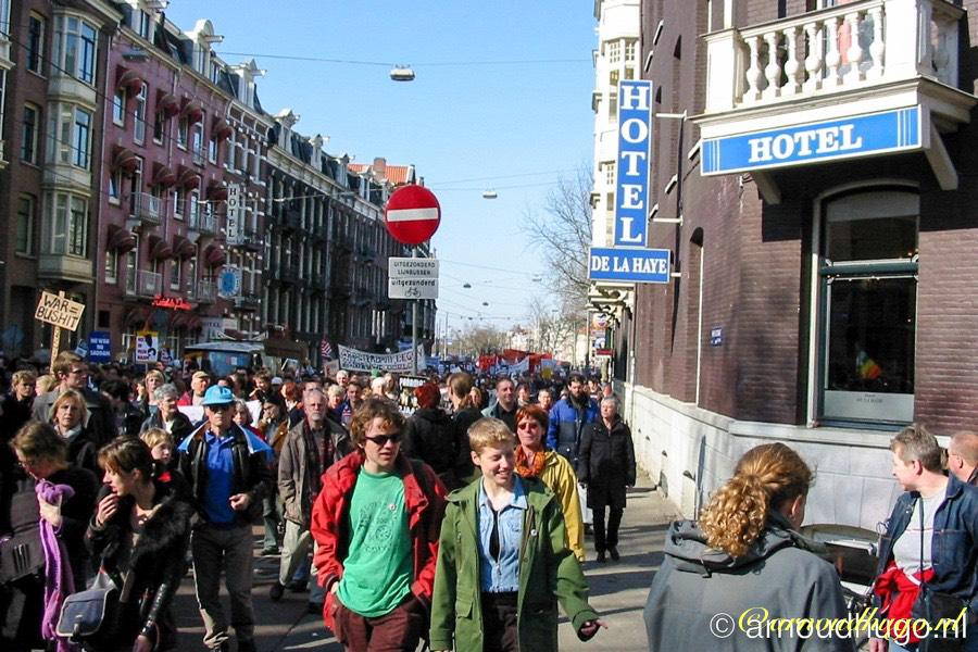 Vredesdemonstratie 2003 Amsterdam
