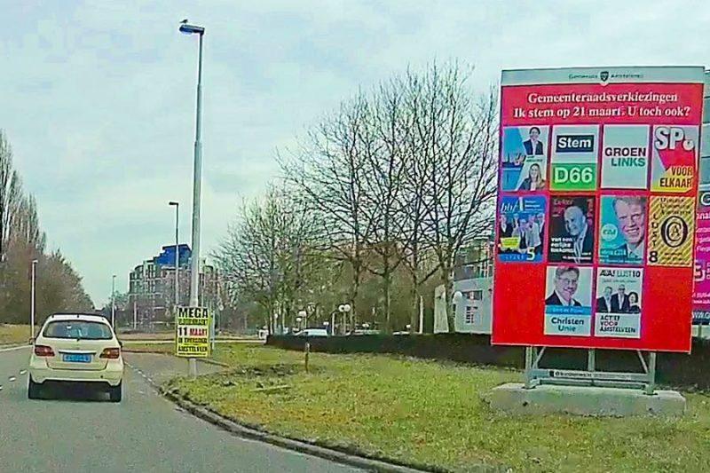 Verkiezingsbord Amstelveen 2018