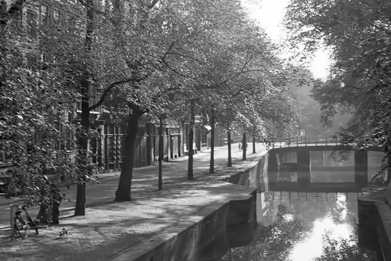 1940 Leliegracht gezien vanaf de Prinsengracht