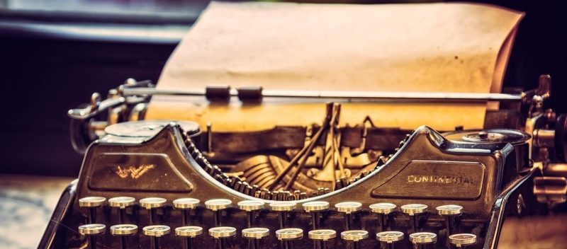 schrijfmachine bloggen